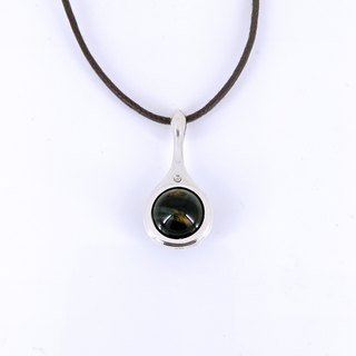 """Yun brewing rich"" │ blue tiger eye corundum pure silver design models pendant"