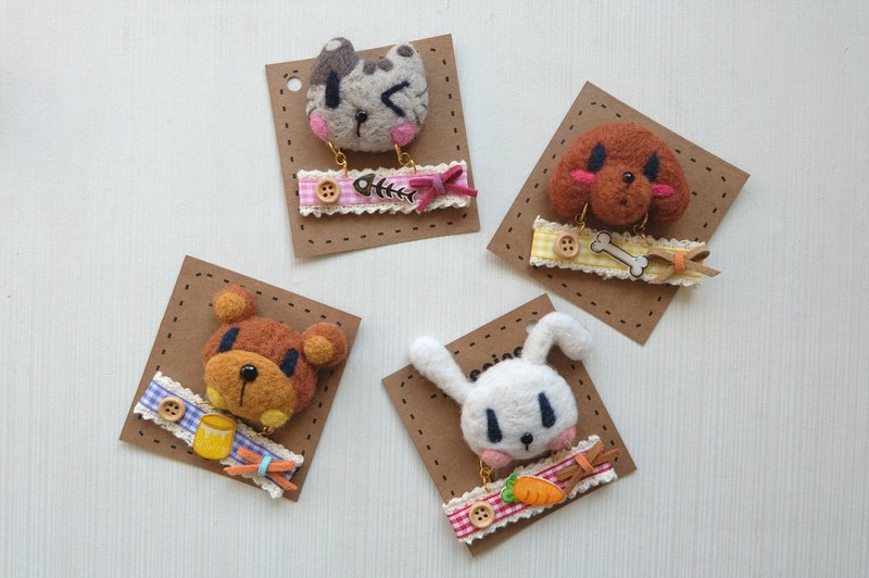 [We are sleeping original handmade brooch snack goods]