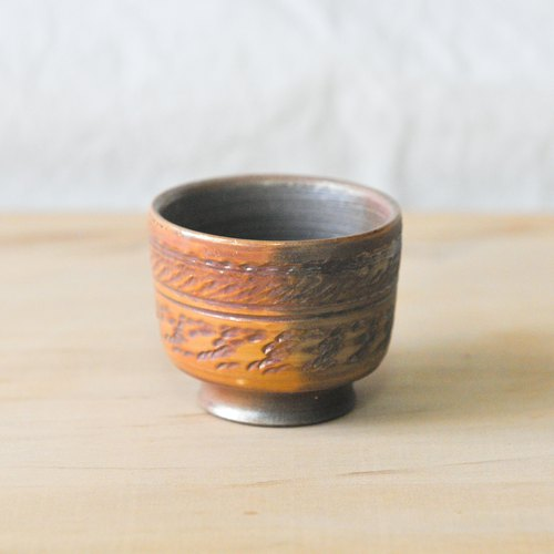 Firewood pottery lace small tea cup