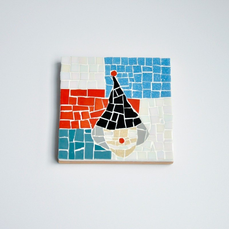 Clown / Handmade Mosaic Decorative Painting/ Wood coasters