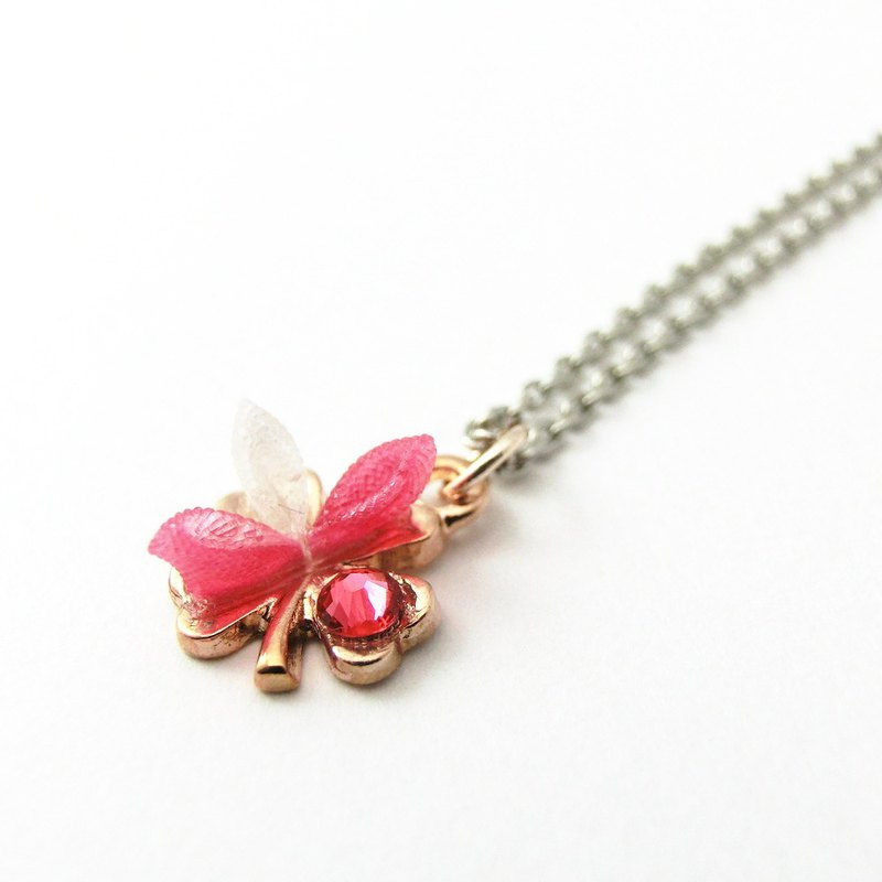 Tsumami-zaiku necklace peach-pg