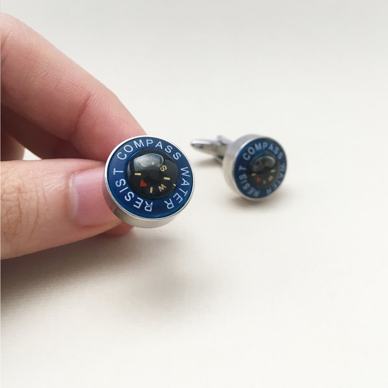 Waterproof Compass Cufflinks