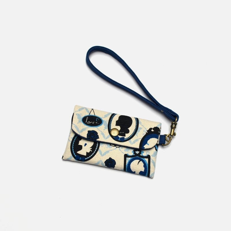 Magic butterfly Card holder/Badge holder/credit card case/gift card holder/business card holder Hand-made canvas