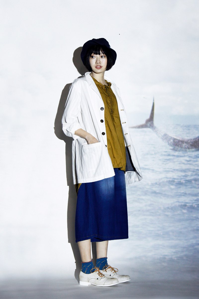 Sea _ ocean flow to cotton striped blazer