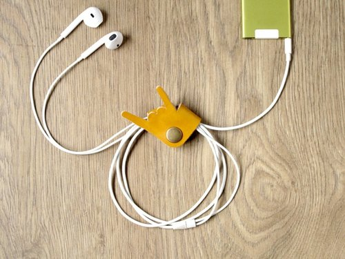 Music please do not stop rock down iPhone headphone cord incorporating / hand le