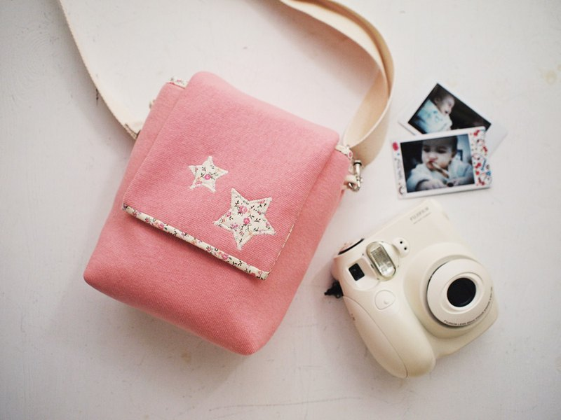 Hairmo floral star camera bag side back + (camera / mobile phone / mobile power / Polaroid)