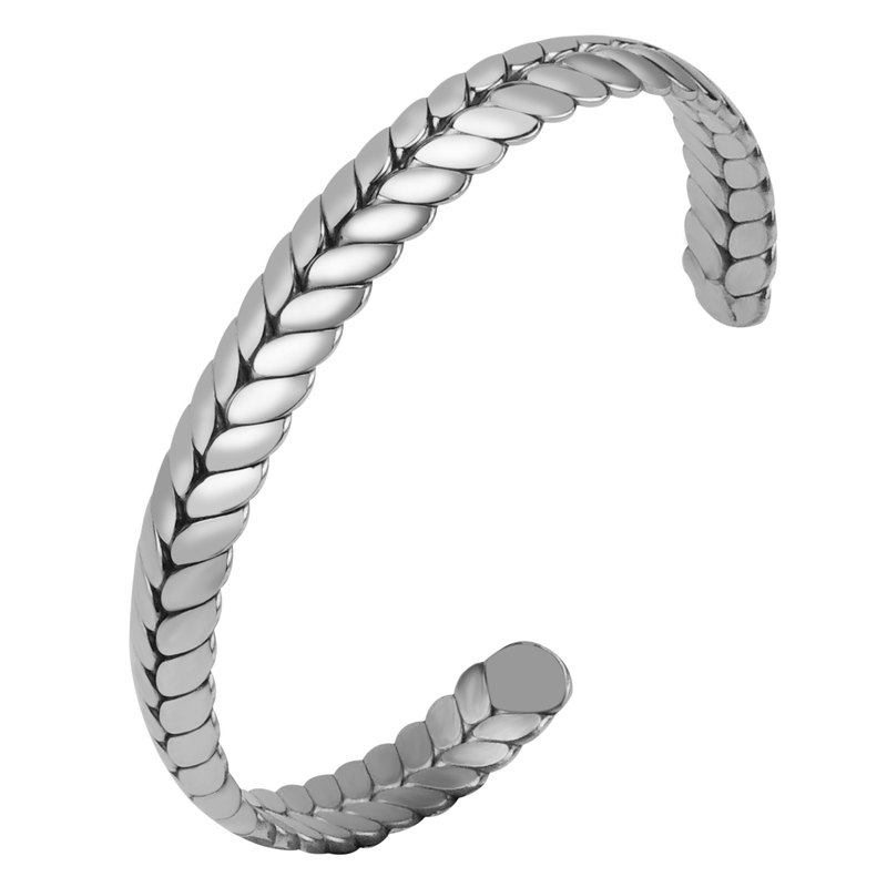 Stainless Steel Wheat Head Bangles