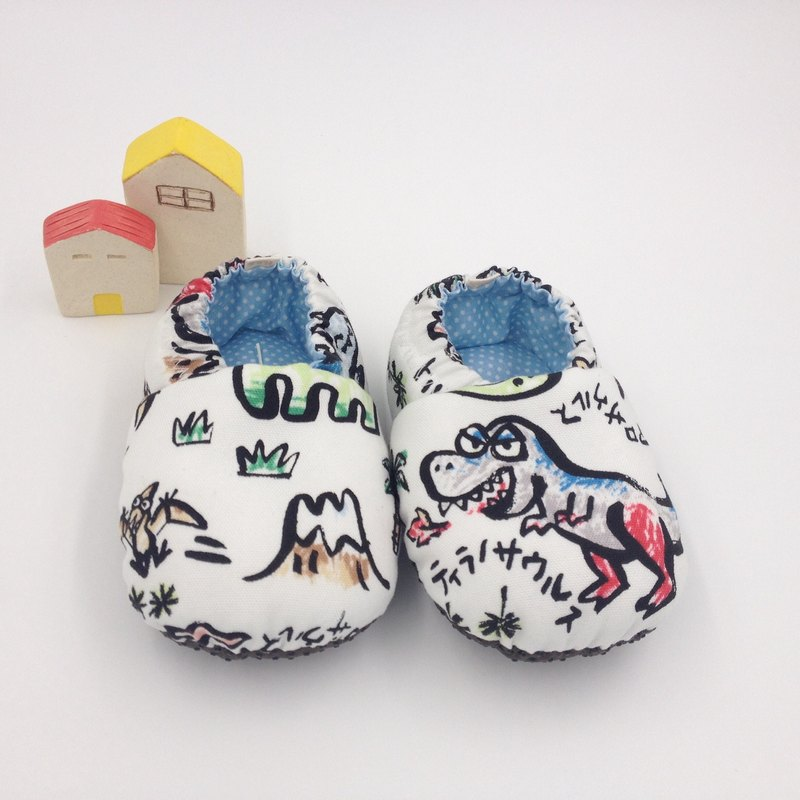 HBS handmade doll shoes - color ink dinosaur