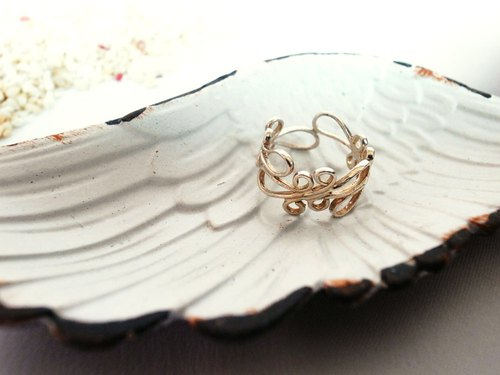 Simple curve opening ring - sterling silver sterling silver decoration