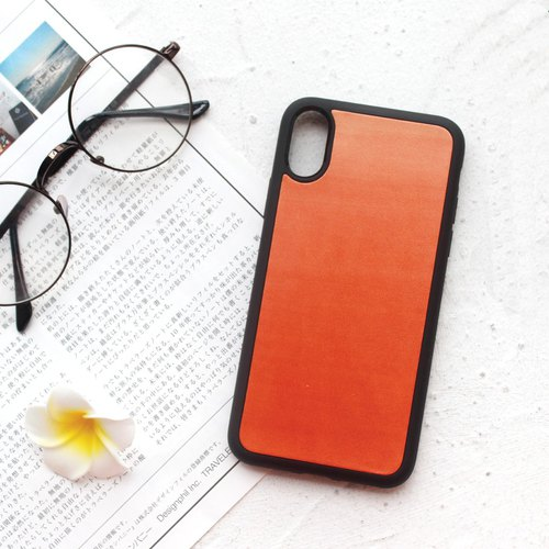 Orange orange iphone6s 7 8 plus X leather mobile phone shell iphone protective shell i6 i7 i8