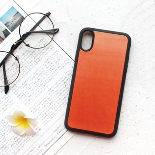 Orange orange iphone 6s 7 8 plus x xs max xr leather phone case protective case customization