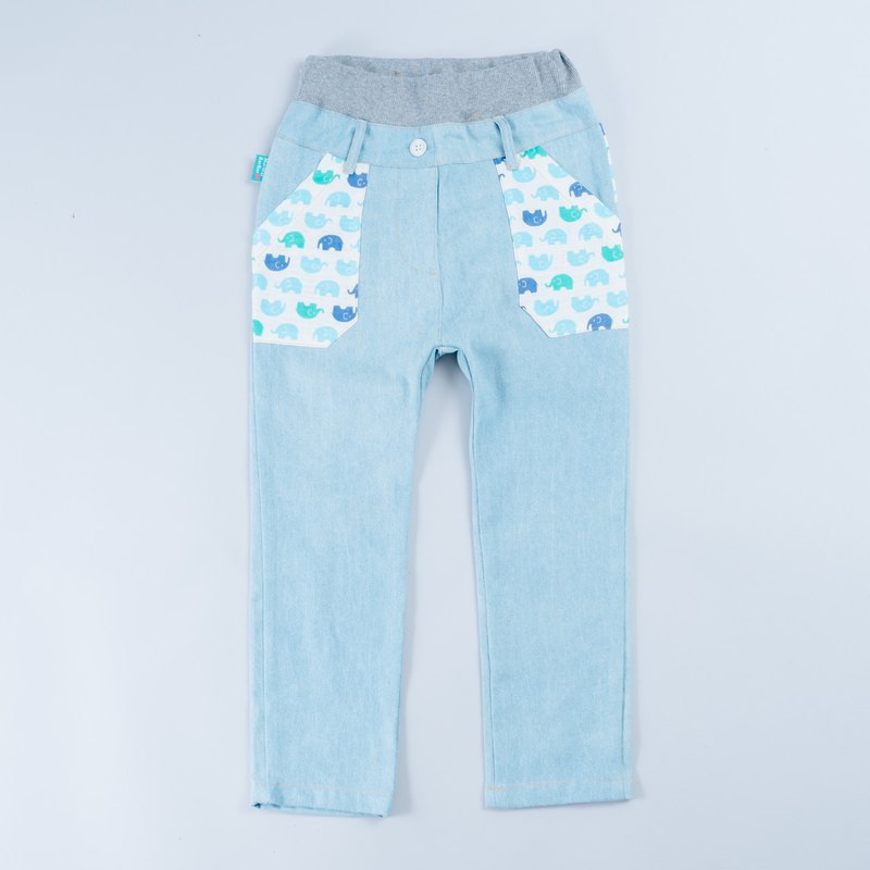 Custom denim trousers - light cow pants children baby boy parent-child denim trousers