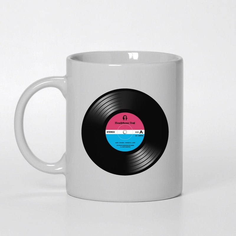 HeadphoneDog - Vinyl Record Mug Cup