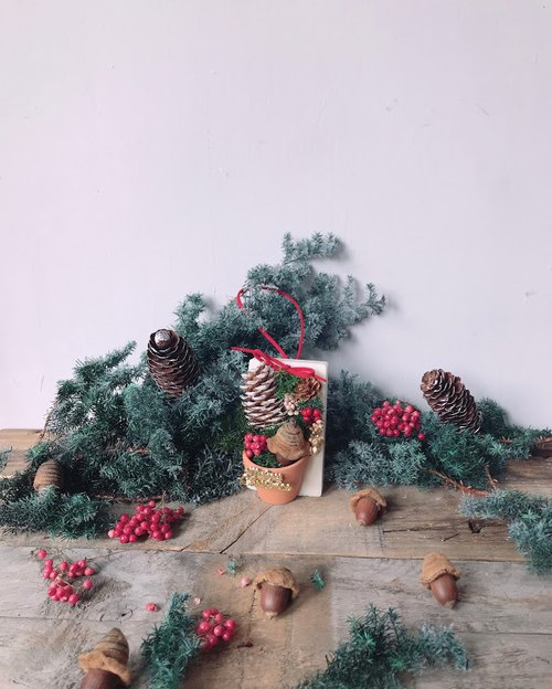 Merry Christmas scented brick / Christmas gift / home decoration / gift / pinecone