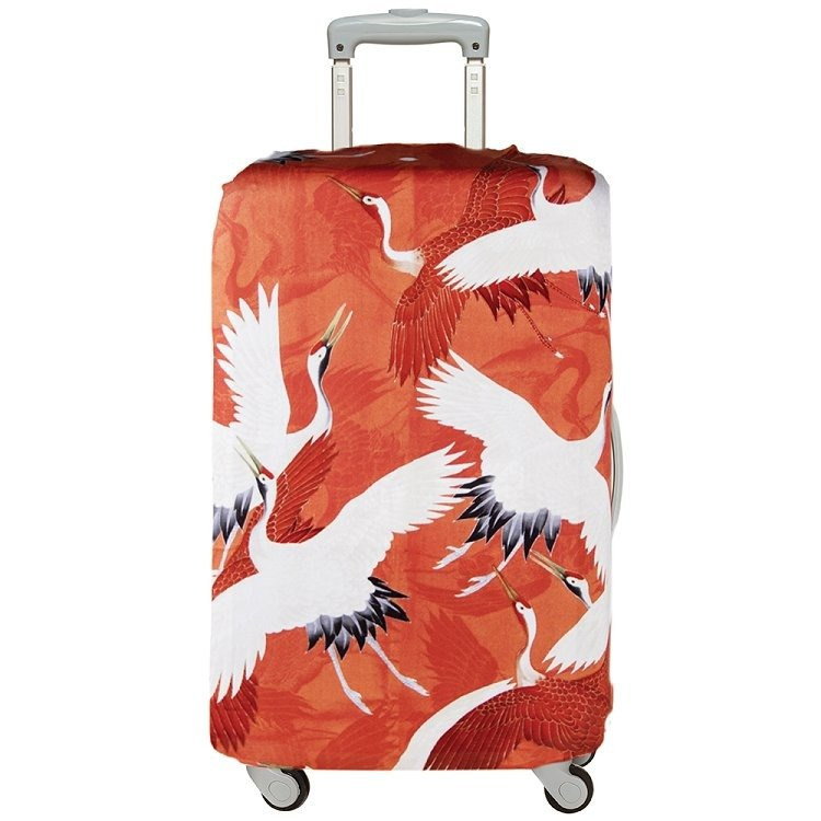 LOQI luggage jacket / red and white crane LLWHCR 【L】