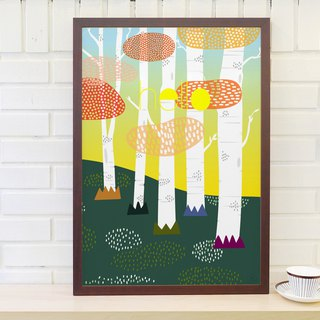 Nordic simple retro poster Norwegian forest original customizable paintings (excluding frame)