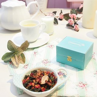 Rose tea | light dance Versailles | jewelry box - loose tea 50g herbal tea] [HERDOR