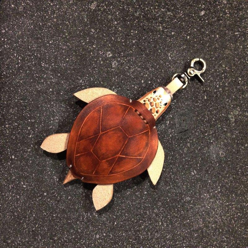 海龜 赤蠵龜GOGORO鑰匙套 皮件掛扣 原創動物皮雕海洋系列 保護套