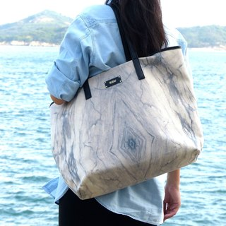 HARD RAYS WHITE MARBLE WEEKEND TOTE