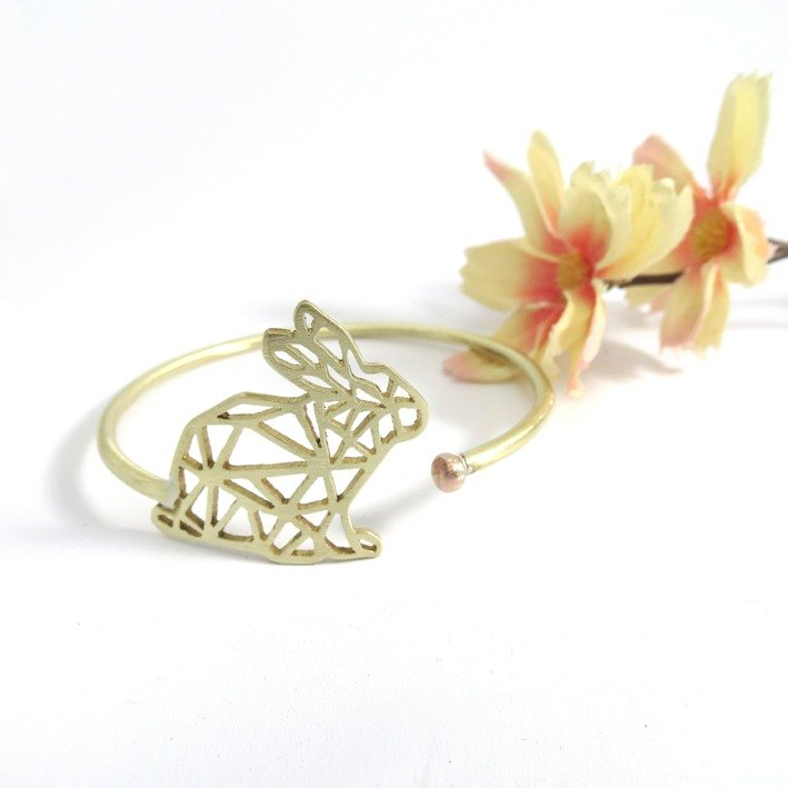 Geometric rabbit bracelet
