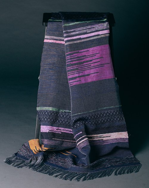 Hand loom woven shawl (for winter)