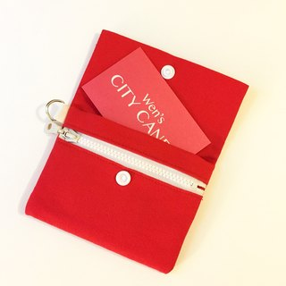 Zipper Coin Purse - Red