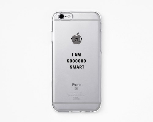 iPhone Rubber Case - Im SO SMART for iPhones