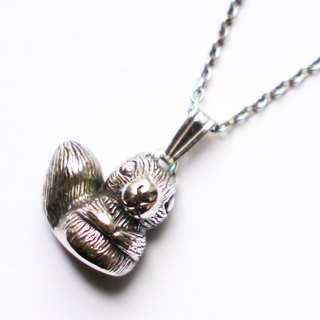 Petite Fille] [handmade silver sterling silver pendant squirrel