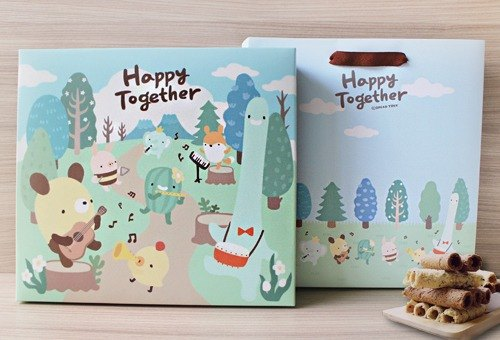 Happy together bread tree joint gift box (composite egg roll)