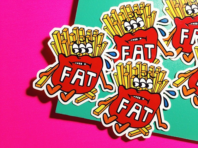 French fries - line stickers series / stickers