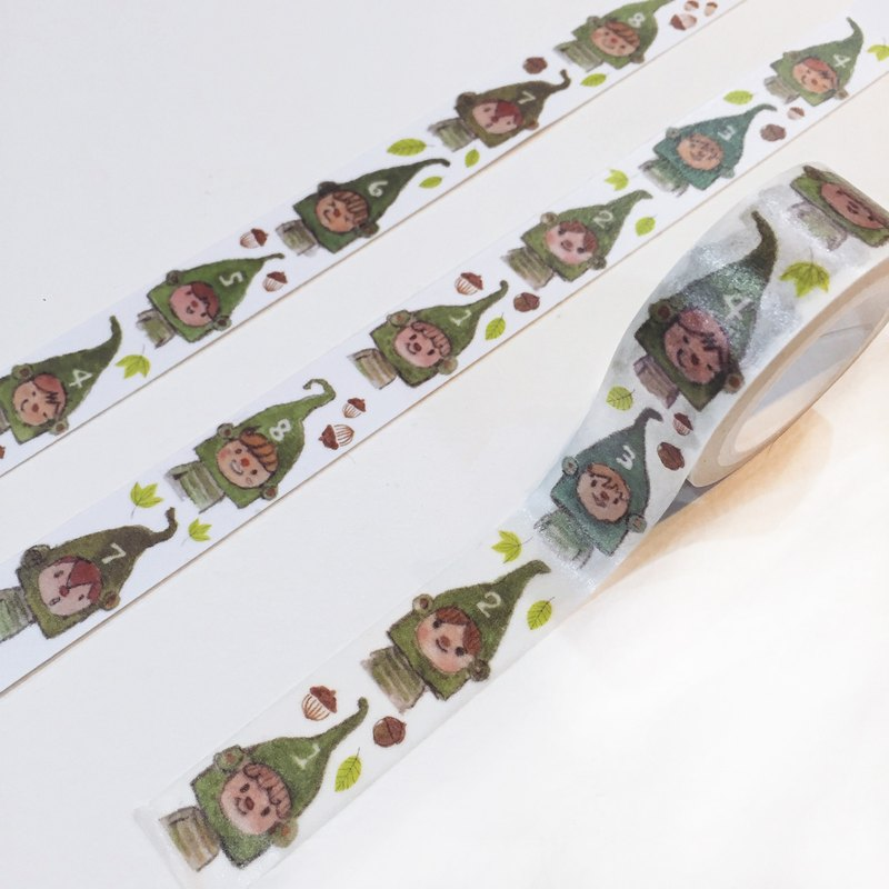 Two hands two hands! Post small green goblins paper tape, new shelves% discount!