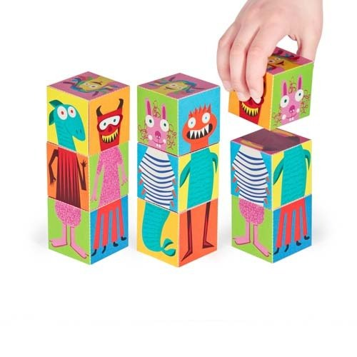 [pukaca hand-made educational toys] paper blocks series - Little Monster II