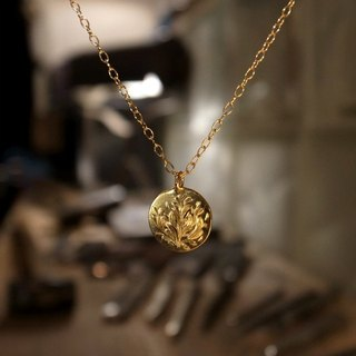Popular K18 gold gold handmade necklace · coin for men