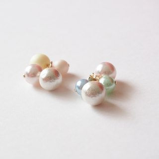 [14kgf] grain Cotton Pearl Earrings (spring)