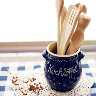 [Good day] Germany VINTAGE fetish glove hand made pottery spoon