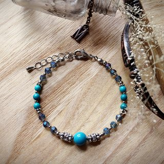 Muse Fashion Series NO.14 Mother's Day natural blue stone bracelet Lai Shi Yinhua Turkey