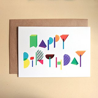 Birthday Card - Color Blocks