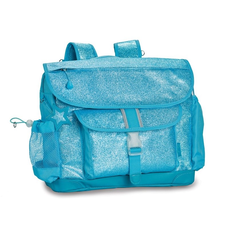 "Bixbee ""Sparkalicious"" Kids Glitter Backpack - Turquoise"