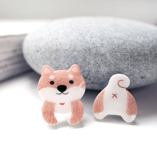 Sprouted Shiba Inu earrings Shiba Inu-Auricular Acupuncture Earless Ear Clips