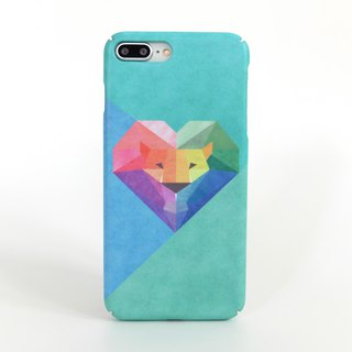 Geometric Lion iPhone case in Blue/Green