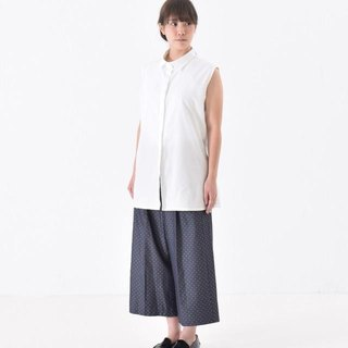 藍色寬褲 wide dot pants