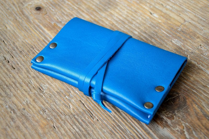 Blue leather tobacco pouch. Leather tobacco pouch. 100% Handmade and hand stitched. Perfect as a gift to tobacco smokers.