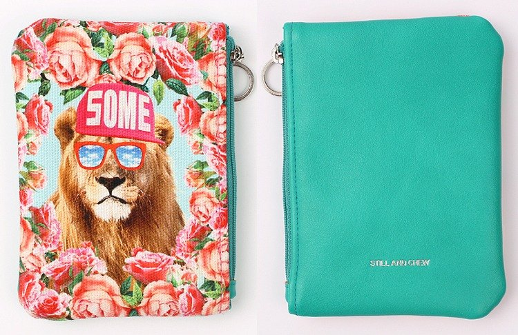 STILL AND CHEW Mixmatch Pouch (中) - A SOME LION