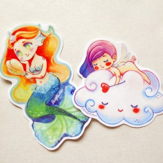 人魚.天使 防水貼紙 - Mermaid & Cherub Waterproof Stickers