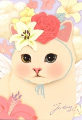 Jetoy, choo choo sweet cat Angel Series Postcards (J1210305)