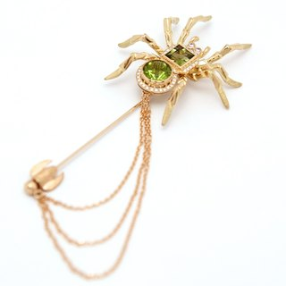 "Japan Quality | 18K Spider Broach ""Tencyu-Kumo"""