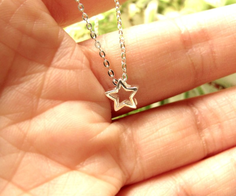 925 sterling silver necklace - wishing meteor necklace