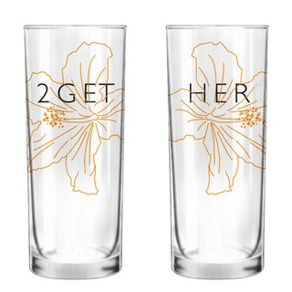 2GETHER Glass Set of 2 by Human Touch