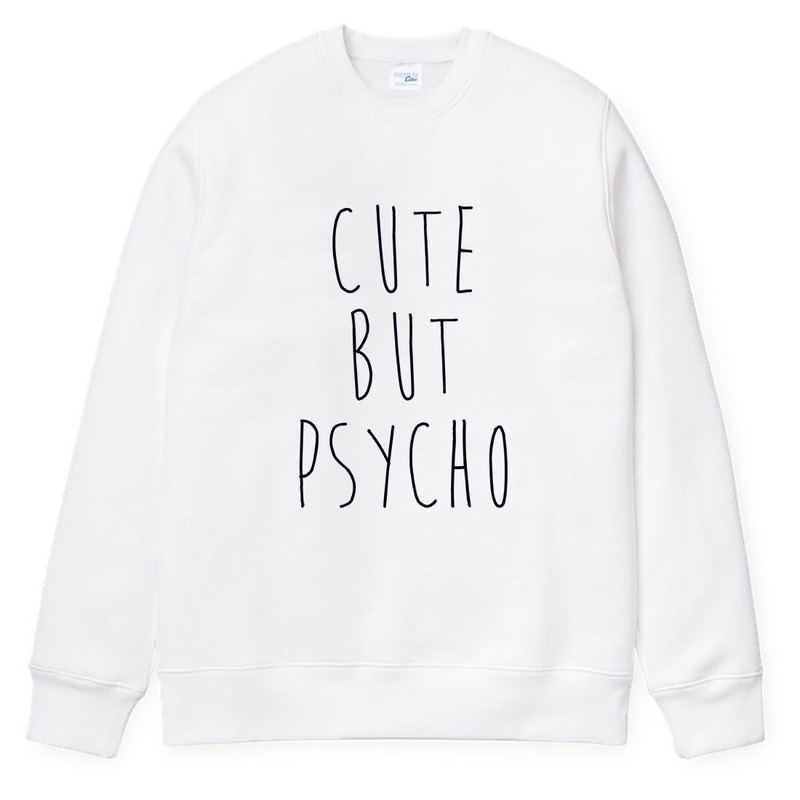 CUTE BUT PSYCHO neutral version of the T bristles white Wenqing art design trendy text fashion