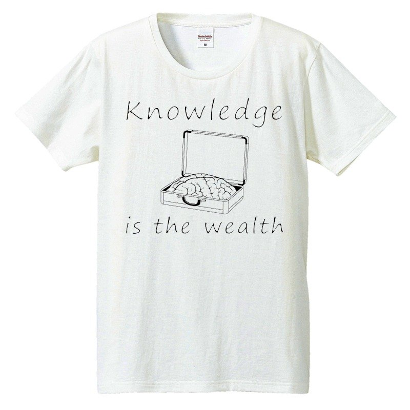 Tシャツ / Knowledge is the wealth